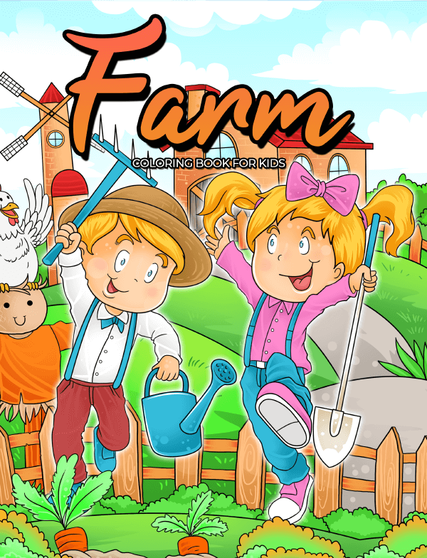 farm coloring book for kids