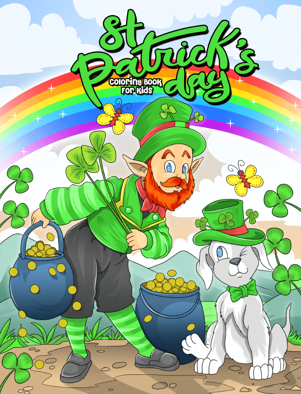 st patricks day coloring book for kids