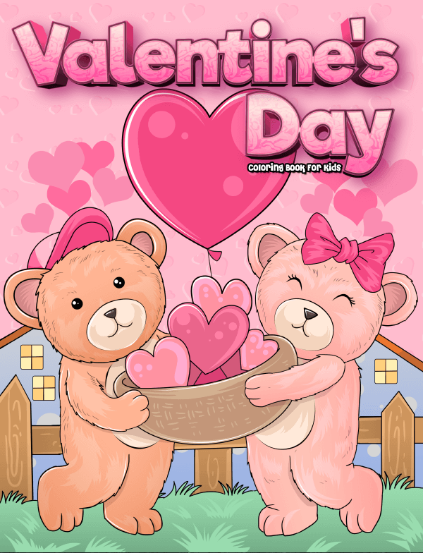 valentines day coloring book for kids